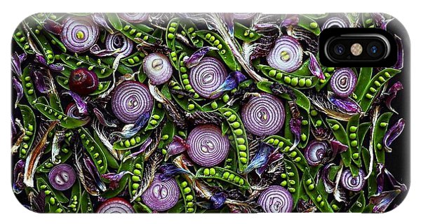 Sugar Snap Peas And Red Onion Mix IPhone Case