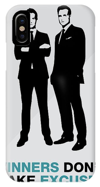 Suits Tv Show Poster Harvey Quote - Winners Don't Make Excuses IPhone Case