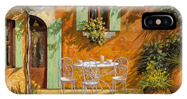 IPhone Case featuring the painting Sul Patio by Guido Borelli