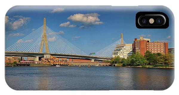 Zakim Bridge iPhone Case - Summer Afternoon At Zakim Bridge by Rick Berk