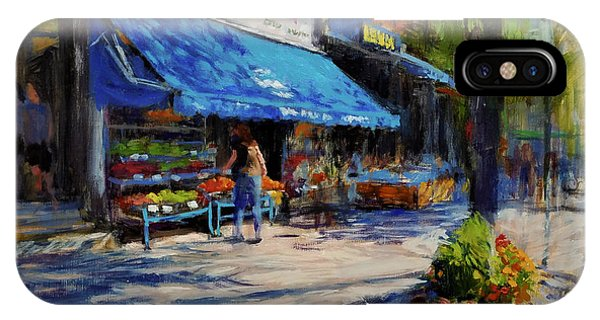 Neighborhood iPhone Case - Summer Afternoon, Columbus Avenue by Peter Salwen
