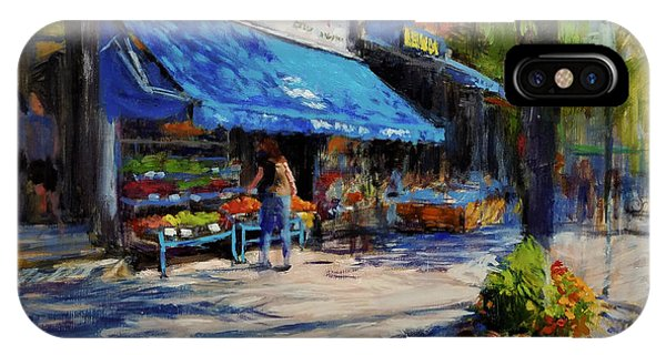 Small Business iPhone Case - Summer Afternoon, Columbus Avenue by Peter Salwen
