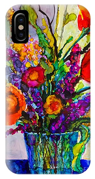 IPhone Case featuring the painting Summer Arrangement by Priti Lathia