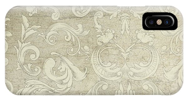 Summer At The Cottage - Vintage Style Wooden Scroll Flourishes IPhone Case