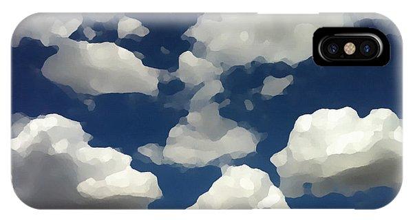 Summer Clouds In A Blue Sky IPhone Case