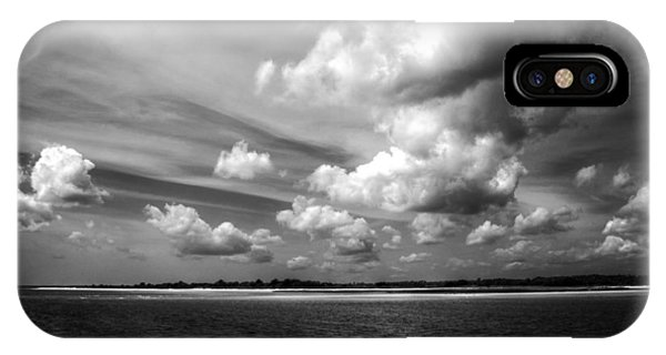 Summer Clouds In Back And White IPhone Case