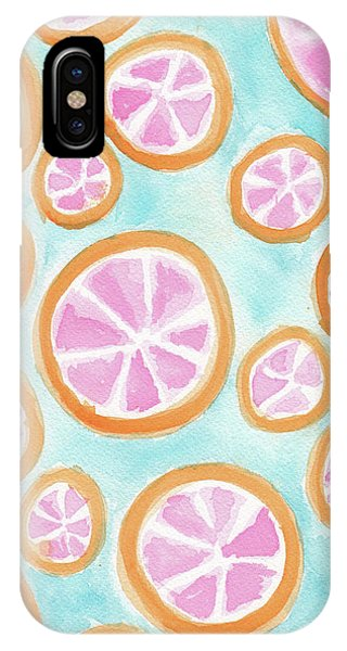 Grapefruit iPhone Case - Summer Colors by Tate MacDowell
