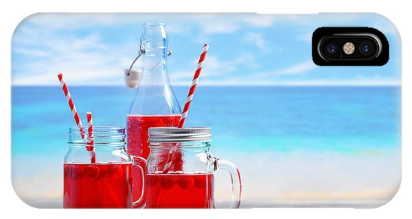 Blue Berry iPhone Case - Summer Drinks At The Beach by Amanda Elwell