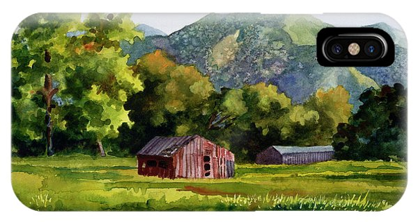 Barn iPhone Case - Summer Evening by Anne Gifford