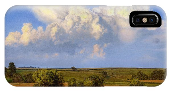 Cloud iPhone Case - Summer Evening Formations by Bruce Morrison