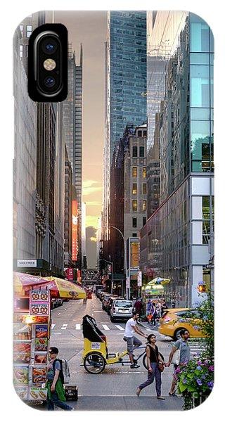 Summer Evening, New York City  -17705-17711 IPhone Case