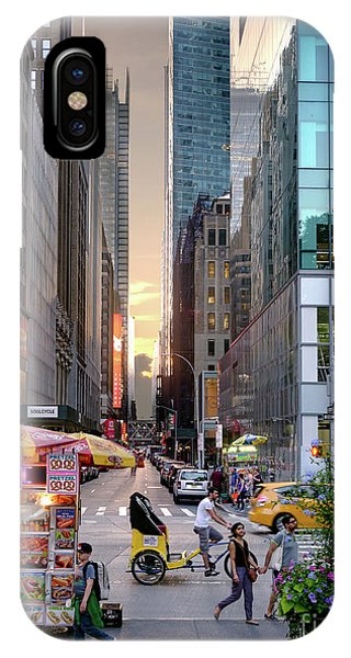 Summer Evening, New York City  -17705-17711 IPhone Case