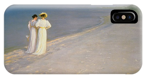 Summer Evening On The Skagen Southern Beach With Anna Ancher And Marie Kroyer IPhone Case