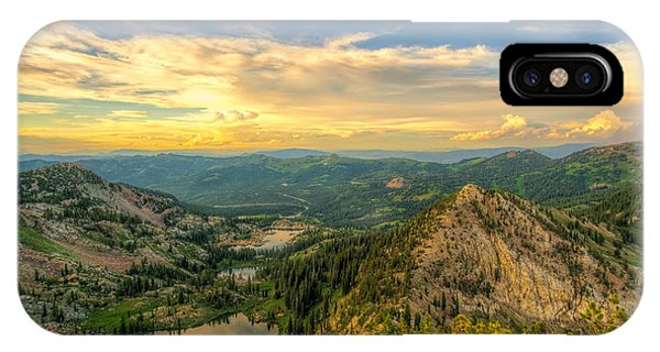 Summer Evening View From Sunset Peak IPhone Case