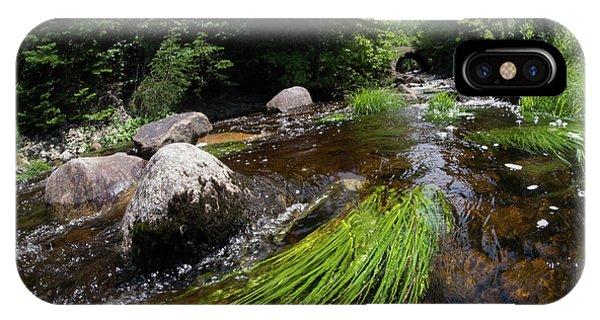 Summer Flow Of Water Near Rangeley Maine  -63322 IPhone Case