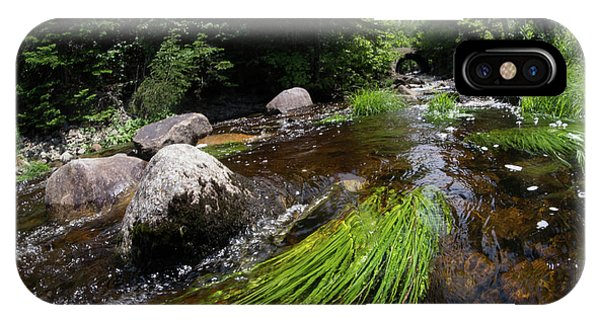 Summer Flow Of Water Near Rangeley Maine  -63322 IPhone Case