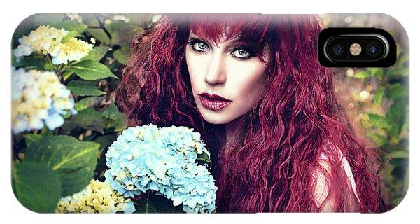 Pre-modern iPhone Case - Summer Flowers by Spokenin RED