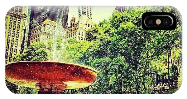 Summer In Bryant Park IPhone Case