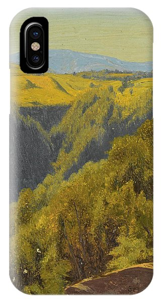 Jervis iPhone Case - Summer In The Hills by Jervis McEntee