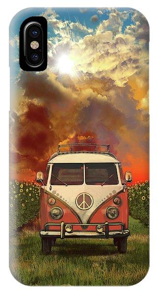 Sunflower iPhone Case - Summer Landscape 3 by Bekim M