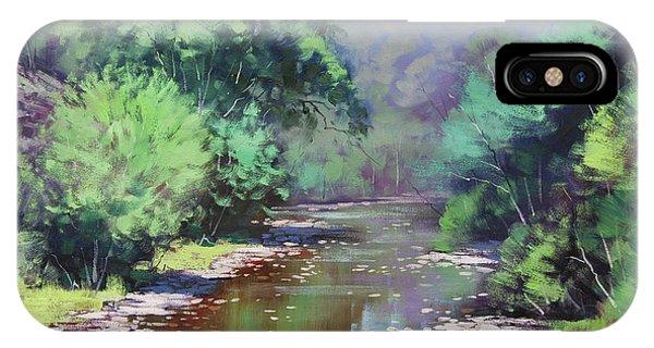 Creek iPhone Case - Summer Light Williwa Ck by Graham Gercken