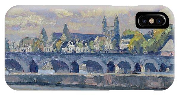 iPhone Case - Summer Maas Bridge Maastricht by Nop Briex