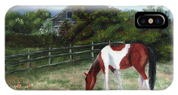 Half Moon iPhone Case - Summer Morning In The Country by Laura Iverson