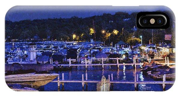 Summer Night - Lake Geneva Wisconsin IPhone Case