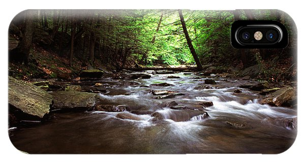Catoctin Mountain Park iPhone Case - Summer On Big Hunting Creek by Thomas R Fletcher