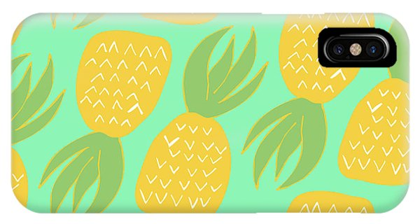 Festival iPhone Case - Summer Pineapples by Allyson Johnson