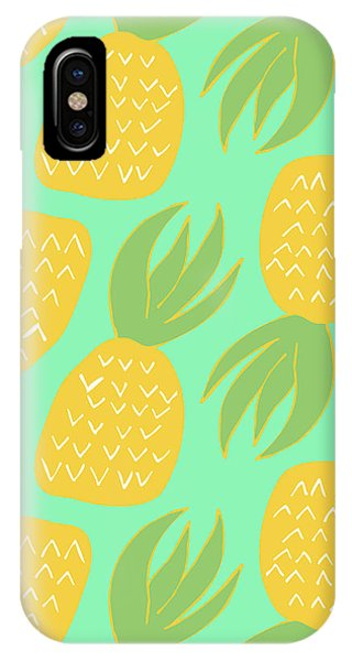 Tropical iPhone Case - Summer Pineapples by Allyson Johnson