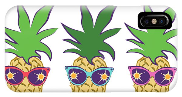 Summer Pineapples Wearing Retro Sunglasses IPhone Case