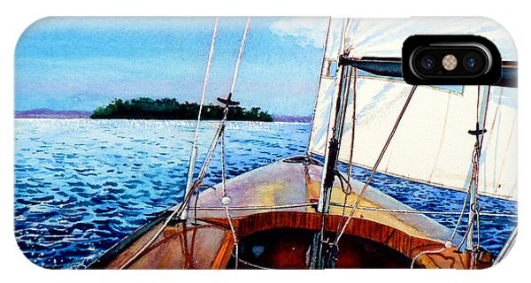 Relaxation iPhone Case - Summer Sailing by Hanne Lore Koehler
