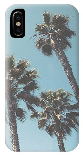Palm Tree iPhone X Case - Summer Sky- By Linda Woods by Linda Woods