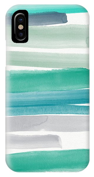 Aqua iPhone Case - Summer Sky by Linda Woods