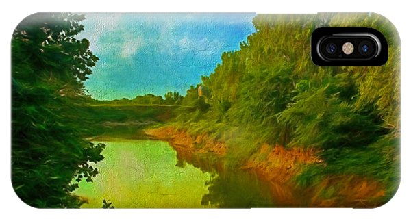 Summer Soft Morning Creek IPhone Case