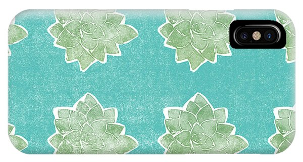 Pattern iPhone Case - Summer Succulents- Art By Linda Woods by Linda Woods