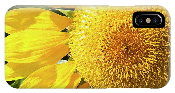 IPhone Case featuring the photograph Summer Sunflower Painterly by Andee Design