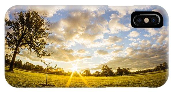 Summer Sunrise Across Delware Park Meadow IPhone Case