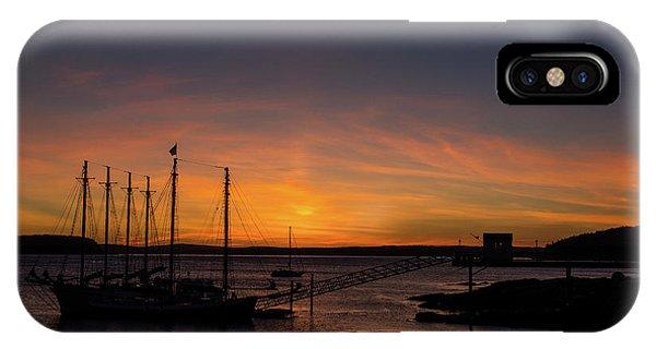Summer Sunrise In Bar Harbor IPhone Case