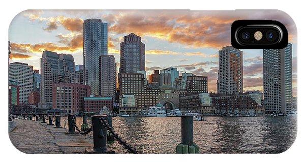 Summer Sunset At Boston's Fan Pier IPhone Case