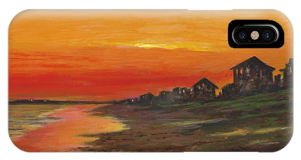 Summer Sunset At  Crystal Beach IPhone Case