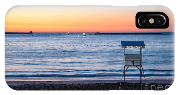 Beach Chair iPhone Case - Summer Sunset by Delphimages Photo Creations