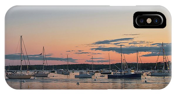 Summer Sunset In Boothbay Harbor IPhone Case