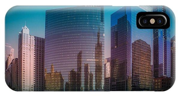 Chicago Skyline Art iPhone Case - Summer Sunset In Chicago Downtown  by Art Spectrum