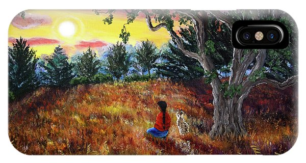 Bobcats iPhone Case - Summer Sunset Meditation by Laura Iverson