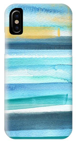 Summer Surf 2- Art By Linda Woods IPhone Case