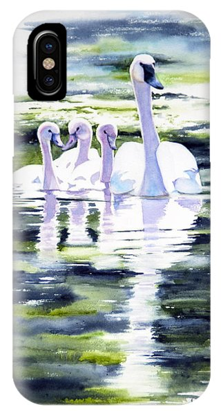 Summer Swans IPhone Case
