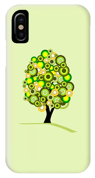 Garden iPhone X Case - Summer Tree by Anastasiya Malakhova