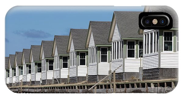 Condo iPhone Case - Summer Vacation Cottages At The Beach by Edward Fielding
